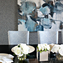 Contemporary Dining Room Design // The Blues