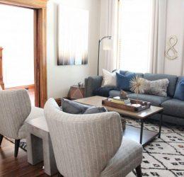 TOWER GROVE // LIVING + DINING ROOM INTERIOR DESIGN
