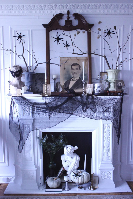 vintage spooky chic halloween decor cure design group cure design group. Black Bedroom Furniture Sets. Home Design Ideas