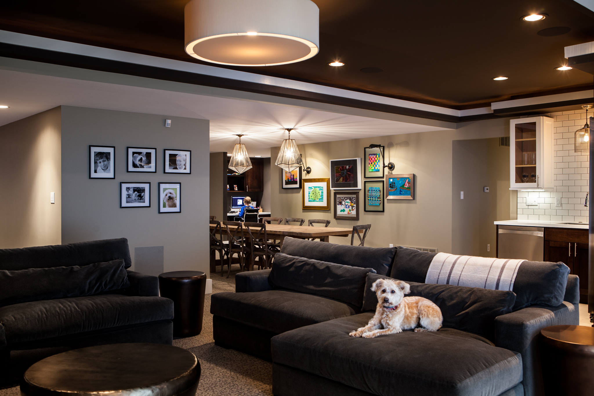 Basement interior design gallery st louiscure design group - Interior basement ...