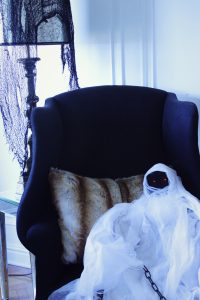 Black Wing back chair Halloween
