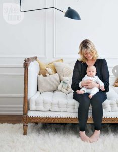 Monochromatic Nursery designed by Bijou and Boheme's Christine Dovey
