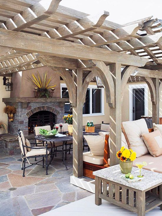 Casual outdoor living space