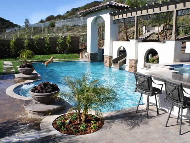 Poolside outdoor space