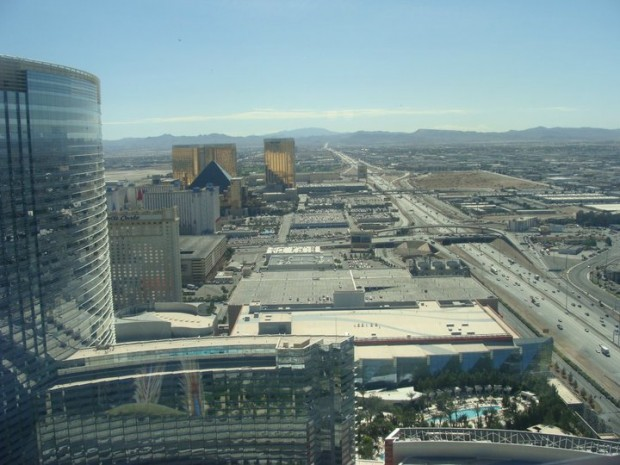 Arial view Vegas