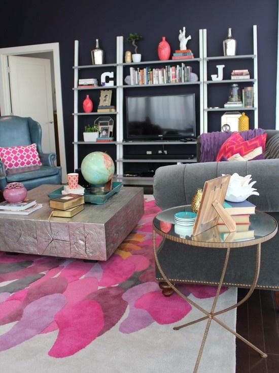 Vibrant Colorful Loft Living Room