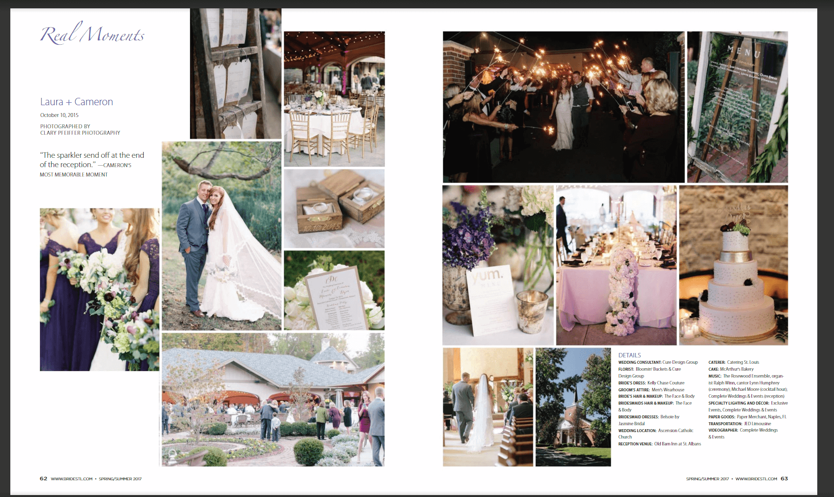 Stl Bride Magazine Wedding Planning And Design 2 Page Feature