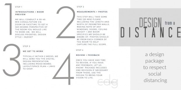 Design from a distance 1-4 with logo white image with title long